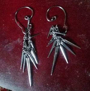 Spikey Pierceless earrings goth punk